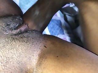 Young Tiffani creams then swallows