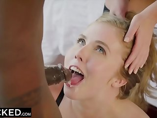 Angela sickly added to Lena Paul interracial threesome