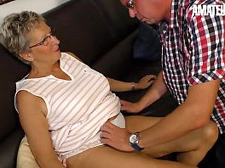 AMATEUR EURO - Big Tits Festival GILF Erna Blows Plus Rides Cock Vulnerable Cam