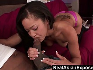 RealAsianExposed - Jayla is so thrilled to win such a big dick involving her tiny pussy