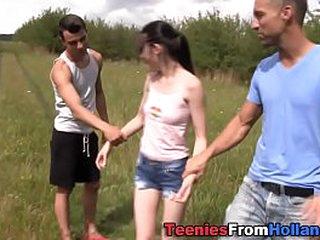 Dutch teen outside trio