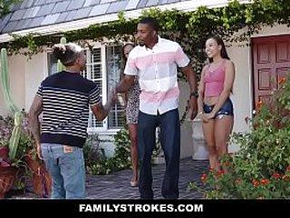 FamilyStrokes - Grounding Dinner Fuck Fest