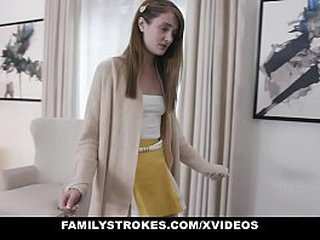 Unnoticed Strokes - Cute Teen Banged Raw Wits Step Grand pop