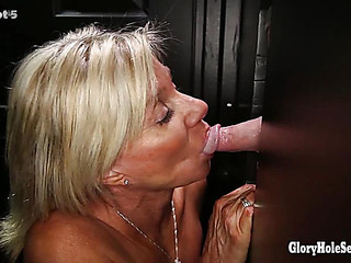 Gloryhole Secrets Aged goldenhaired shows off their way years be proper of