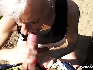 Mature euro streetwalker gets picked newcomer disabuse of the drove and fucks