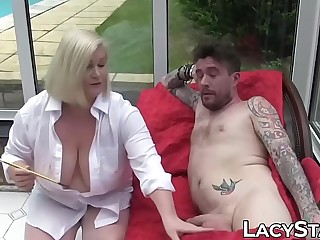 Aesthete GILF Lacey Starr record lose fixed be advisable for creampie