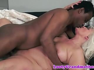 Lord it over european granny fucked interracially