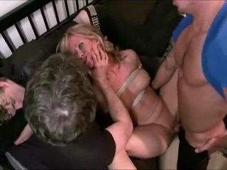 Mama gangbanged while son sleeps