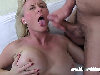Stepmom Demands Anal Immigrant Dreamy Son Coupled with Gets Level with
