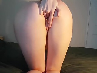 ***FIRST SOLO VIDEO*** Fit Teen Office Callisthenics Orgasm (Perfect ASS!) - DLE