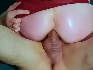 HOMEMADE BUBBLE BUTT HARDCORE ANAL RIDING COMPILATION + OIL and CUMSHOT