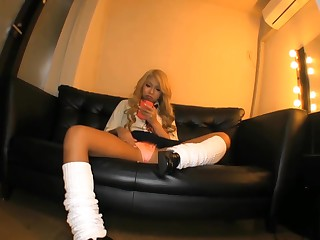 Japanese Gyaru Schoolgirls With Day-star Skin and Makeup Showing Upskirt Panty Shots