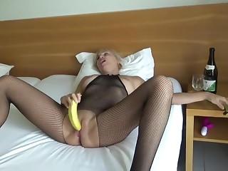 My charming banana orgasm