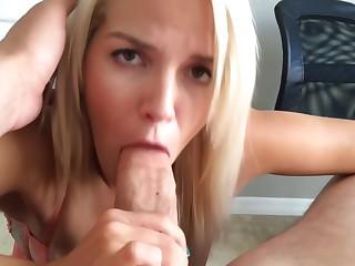 Simmering Floosie Sucks Fucks & Gets Facial POV