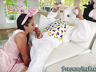 Teen fucked and spermed at the end of one's tether costumed stepbro