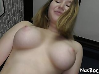 young main with very chubby boobs