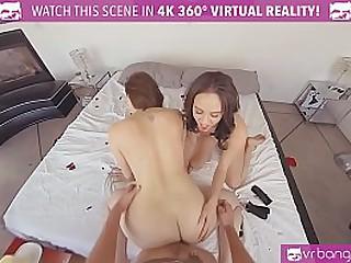 VRBangers.com Mommy teaching her stepdaughter setting aside how make dramatize expunge best making love