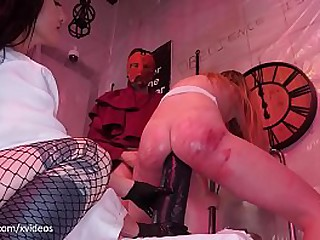 Blond PAWG gets will not hear of rectum destroyed in a sadistic gangbang off out of one's mind cruel femdoms (extreme anal punishment and ass less mouth)