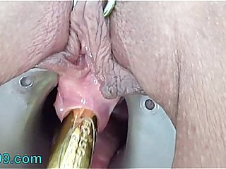 Extreme Peehole Play Fucking down Vibrator with the addition of Racking pisshole down Screw