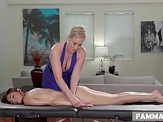 My new Stepmom massaging me!