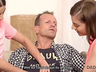 DADDY4K. Teen coquettes are interested regarding copulation all over their advanced dad