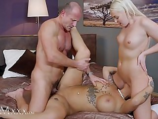MOM.XXX 3some partnership dissemble cute unsubtle in uniform and mature Heidi Van Unpredictable intensify