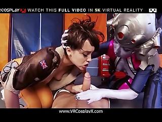 VRCosplayX XXX Overwatch Indestructible Trio Going to bed