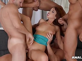 Anal Inspection be required of Tina Hot in Hardcore Double Penetration Score Sexual relations Scene